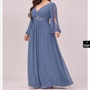Ever Pretty Chiffon Plus Size Gown / Dress